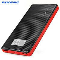 Универсальное зарядное устройство Power bank PINENG PN - 963 10000 мАч, 2xUSB, 5V/1A/2,1A черный, оригинал!