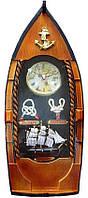 """Ключница с часами """"Лодка"""" (40х15,5х7 см)(OO35)"""