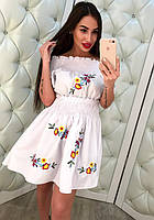 Женское стильное платье с вышивкой (2 цвета), фото 1