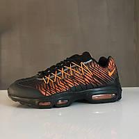 Мужские кроссовки Nike Air Max 95 ultra black/orange. Живое фото. Топ качество (аир макс 95, эир макс 95)
