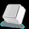 Выключатель двухклавишный ERSTE COUNTRY 8005-02 белый