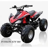 Квадроцикл бензиновый Pithon ATV 110 с 4-х тактным двигателем 6242 красный