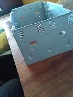 Металлическая  шахта для автомагнитолы 2DIN, фото 1