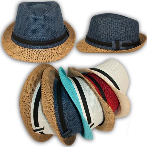 Челентанка детская (шляпа федора) соломенная, 21833