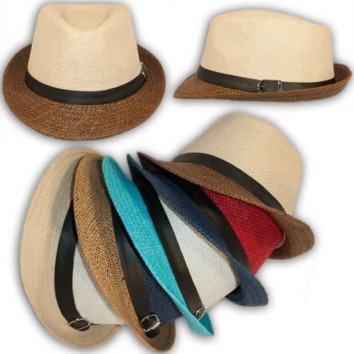 Челентанка детская (шляпа федора) соломенная, 23378