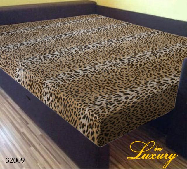 Простынь на резинке 160х200 см «Леопард» in Luxury™ арт.32009