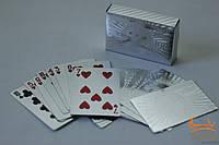 """Платиковые карты """" Доллар """" серебристого цвета"""