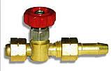Вентиль горючего газа (ГГ) М14х1,5LH Ф6 мм, фото 2