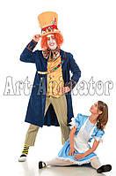 """Аниматоры Алиса и Шляпник из """"Алиса в стране чудес"""" на детский праздник!"""