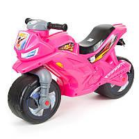 Мотоцикл-толокар двухколесный 501 Орион, ярко-розовый