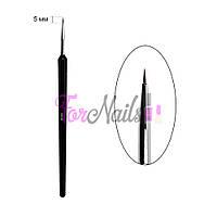 Кисть для дизайна 000, с черной ручкой, А-31