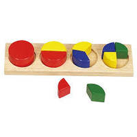 Развивающая деревянная игра Логическая пирамидка