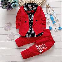 Комплект детский штаны и рубашка с бабочкой для мальчика