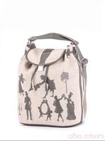 Льняная сумка-рюкзак от Alba Soboni в этно стиле., фото 1