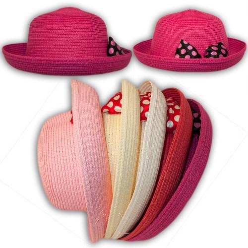 Шляпа соломенная с бантом, 24151