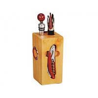 Vincent Набор для вина на дерев.подставке 7пр.VC-6314