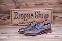 Мужские туфли броги MV, 28.5 см, 43 размер. Код: 416.