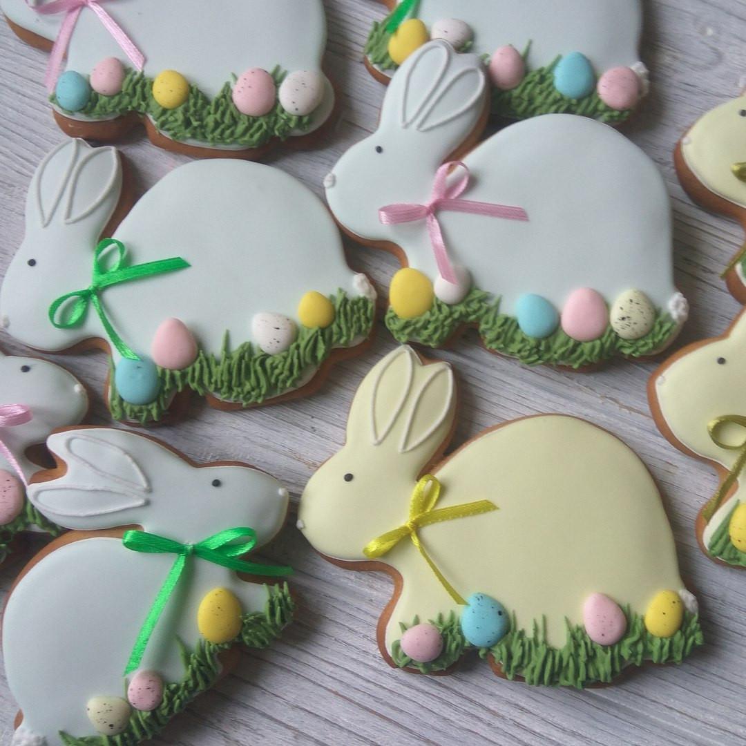 """Пасхальный пряник """"Пасхальный зайчик"""" (пасхальный кролик, пряники в подарок к Пасхе)"""