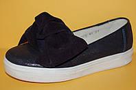 Детские кожаные слипоны ТМ Bistfor код 77313 размеры 31-36