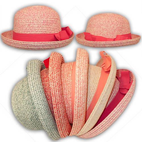 Шляпа соломенная с бантиком, 24139-52