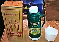 Термос стеклянный ALWAYS 0.68 л + чашка
