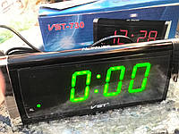 Часы сетевые VST-730 LED (зеленые)
