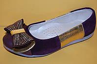 Детские кожаные туфли ТМ Bistfor код 77703 размеры 31-35