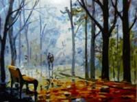 Картина по номерам 40х50, Осенний парк