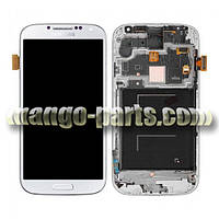 LCD Дисплей+сенсор  Samsung  i9500 Galaxy S4  белый  c передней панелью high copy
