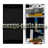 LCD Дисплей+сенсор  Sony  Xperia  Z1 C6902 L39h/C6903/C6906/C6943 c рамкой белый,оригинал (Китай)