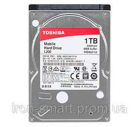 Жесткий диск 2.5' 1Tb Toshiba L200, SATA3, 8Mb, 5400 rpm (HDWJ110UZSVA)