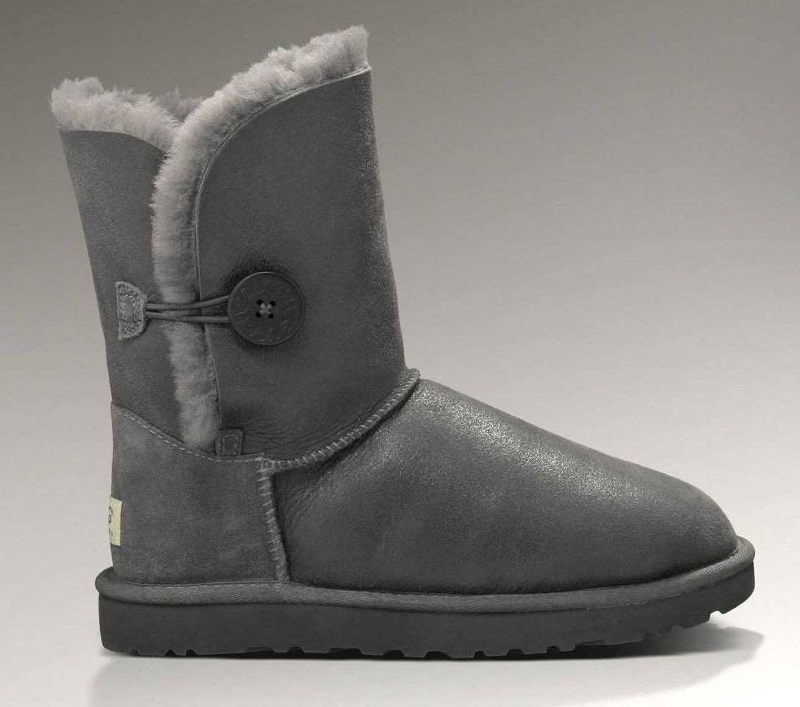 Австралийские угги UGG Australia Bailey Button Metallic Grey