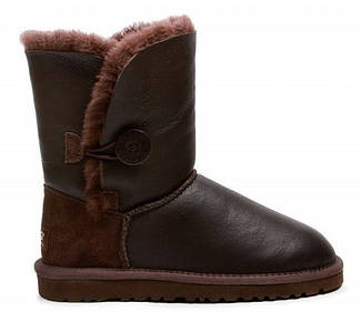 Австралийские угги UGG Australia Bailey Button Metallic Chocolate