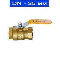 """Кран шаровой муфтовый для газа и нефтепродуктов, Ду 25 (1"""")/ 2,5 МРа/ до 80 °С/ внутрен. резьба/ латунь (Арт. 2410-25)"""