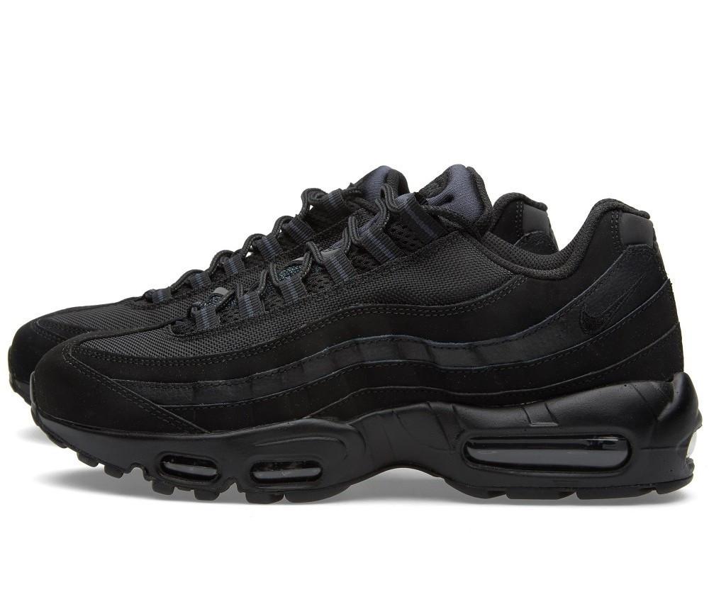 Кроссовки мужские Nike Air Max 95 Triple Black, Найк Аир Макс 95