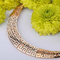 Невероятное ожерелье, с кристаллами Swarovski, покрытое слоями золота  (307250)
