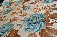 Портьерная ткань для штор Camellia бирюза