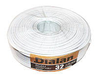 Кабель TV 75 Ом Dialan RG-6 White, 100 м