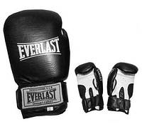Рукавиці боксерські шкіра ELAST TARGET BO-3340-10 (наповнювач-пінополіуретан,р-р 10oz,черв,синій)