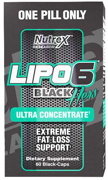 Жиросжигатель Lipo-6 Black Hers Ultra Concentrate (60 капс.) Nutrex