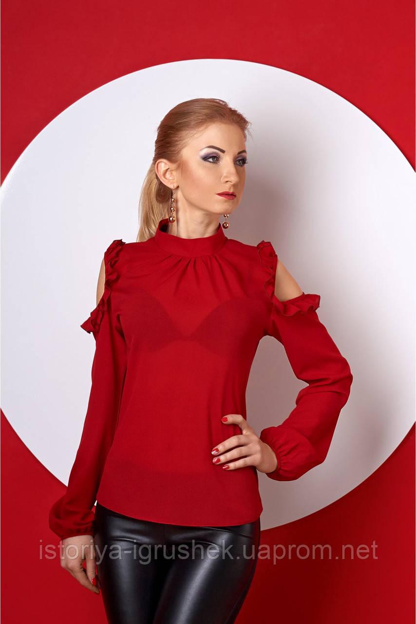 Женская стильная блузка с воротом в ассортименте