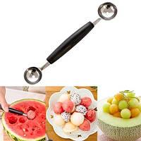 Ложка ложечка двухсторонняя для фруктов и мороженного чёрная