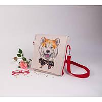 Набор для изготовления сумки с вышивкой 8530. АКИТА-ИНУ
