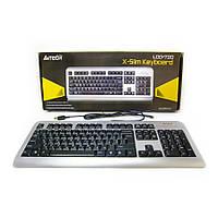Клавиатура A4-tech LCD-720 USB чёрно-серебристая/Black-silver