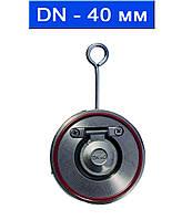 Клапан обратный поворотный не подпружиненный межфланцевый, уплотнение VITON, Ду 40/ 1,6 МПа/ -40 150 °С/ нерж.сталь (AISI 316)/ (арт. TCV-16SS-40)