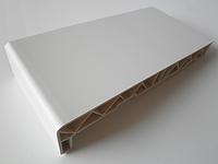 Подоконник пластиковый Элизиум 350 мм белый