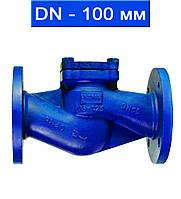 Клапан обратный подъемный фланцевый, Ду 100/ 4,0 МПа/  350 °С/ сталь/ уплотнение нерж.сталь/ (арт. KCVL-40F-100)