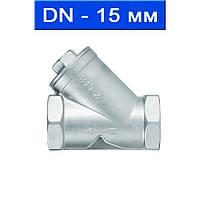 Фильтр осадочный для пищевой и химической промышленности, Ду 15/ 4,0 МПа/ 300°С/ муфтовый/ корпус- нерж. сталь AISI 316, сетка- нерж. сталь AISI 316/