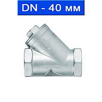Фильтр осадочный для пищевой и химической промышленности, Ду 40/ 4,0 МПа/ 300°С/ муфтовый/ корпус- нерж. сталь AISI 316, сетка- нерж. сталь AISI 316/