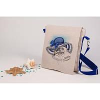 Набор для изготовления сумки с вышивкой 8534. МАРИНА У МОРЯ